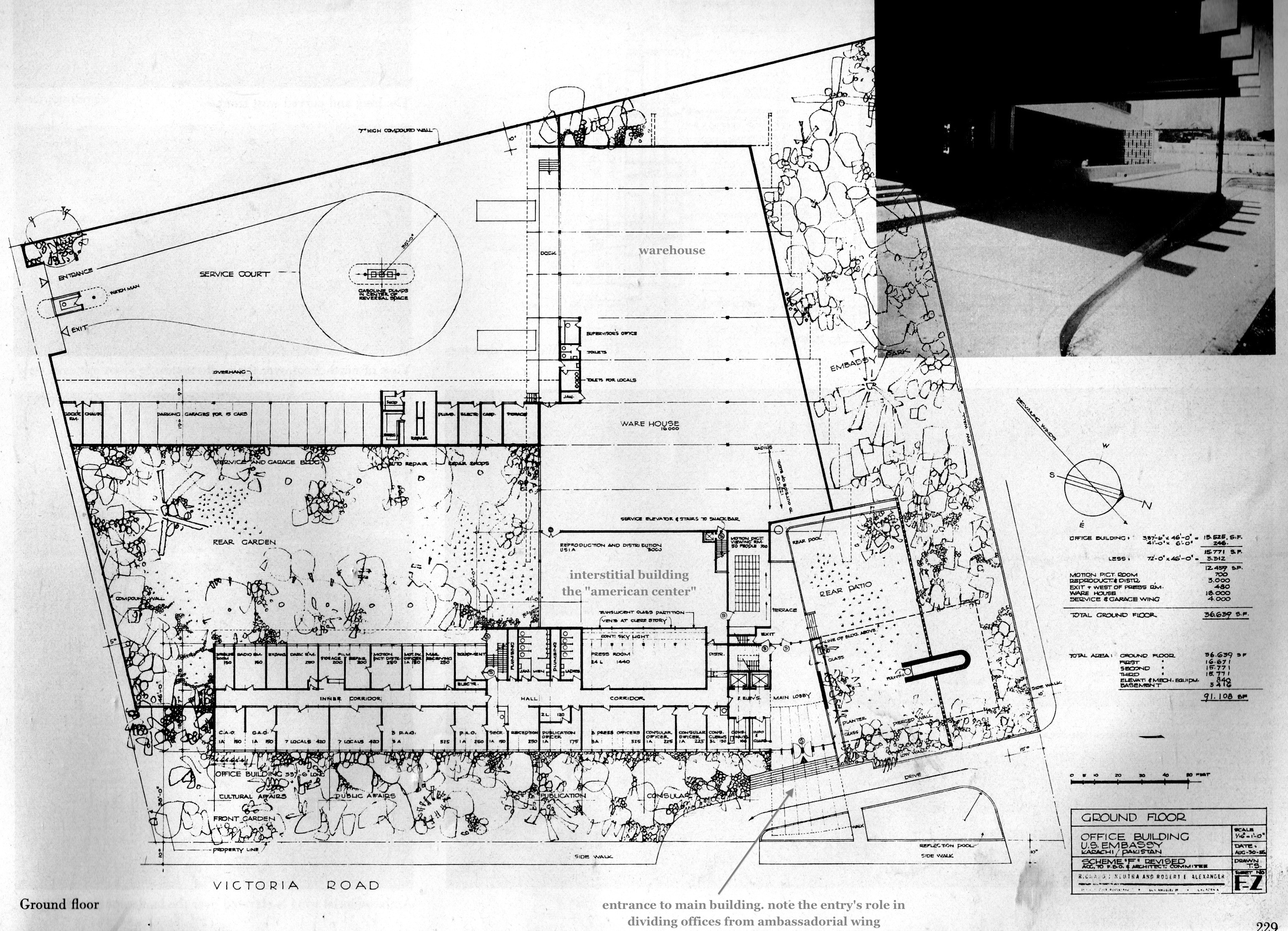 The obsolescence of optimism neutra and alexander s u s for Site plan dimensions