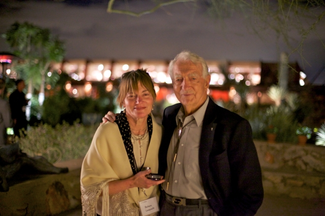 Dad and I at Taliesin West, Saturday Nov. 10, 2012. Photo by Andrew Pielage.