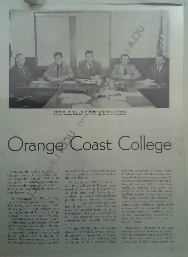 Lamprecht - Orange County Fall 1954